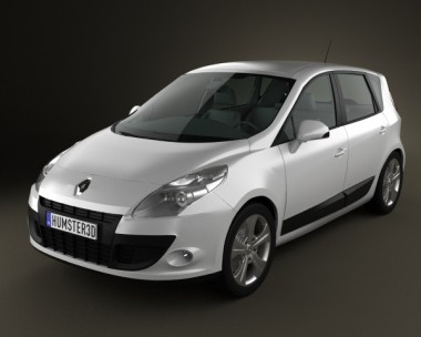3D model of Renault Scenic 2010