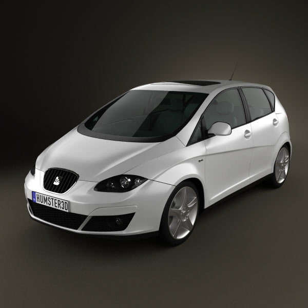 Seat Altea 2010 3d car model