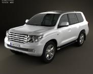 3D model of Toyota Land Cruiser 200