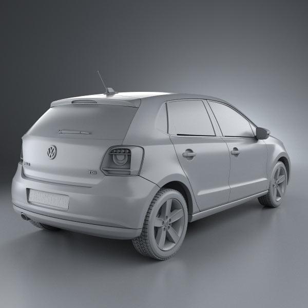 Volkswagen Polo 2 0 Tsi Gti 5dr Dsg Hatchback: Volkswagen Polo 5-door 2010 3D Model