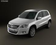 3D model of Volkswagen Tiguan