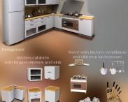 3D model of Kitchen Furniture Set