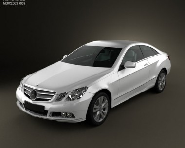 3D model of Mercedes-Benz E-Class coupe 2011