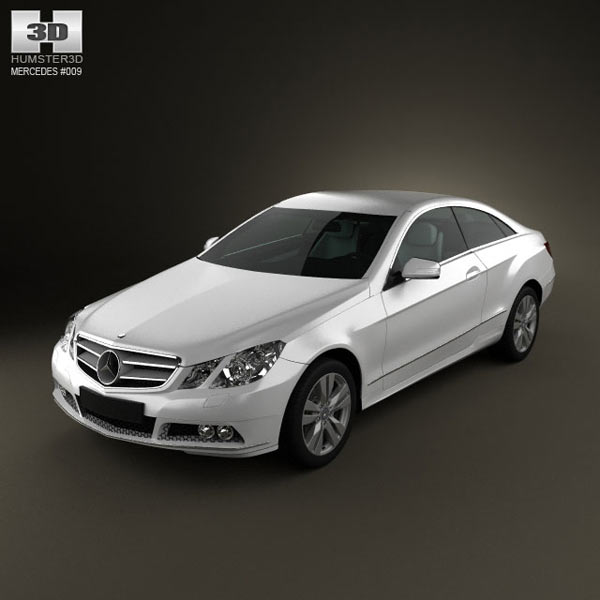 Mercedes benz e class coupe 2011 3d model humster3d for Mercedes benz e class coupe price