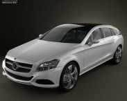 3D model of Mercedes-Benz Shooting Break concept 2011