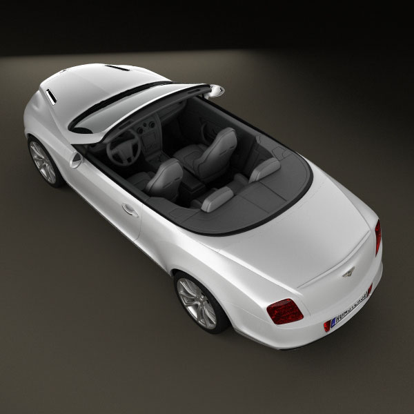 Bentley Convertible Price: Bentley Continental Supersport Convertible 3D Model