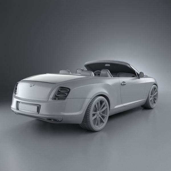 Bentley Continental Supersport Convertible 3D Model