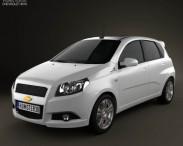 3D model of Chevrolet Aveo 5-door 2009