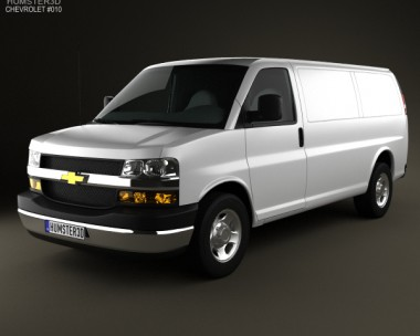 3D model of Chevrolet Express 2011