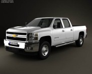 3D model of Chevrolet Silverado Crew Cab Standard Bed