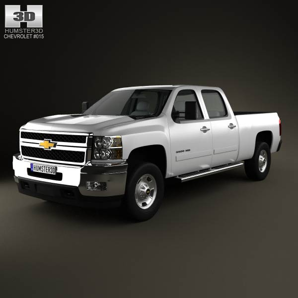 Chevrolet Silverado Crew Cab Standard Bed 3d car model