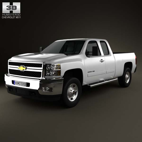 Chevrolet Silverado HD Extended Cab Standard Bed 2011 3d car model