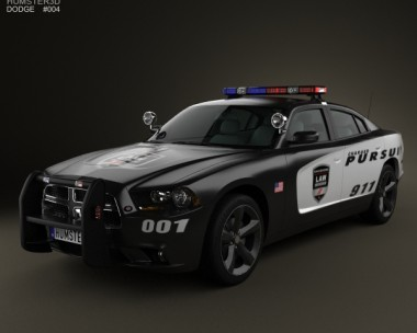 3D model of Dodge Charger Police 2011
