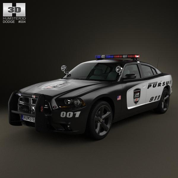 dodge charger police 2011 3d model humster3d. Black Bedroom Furniture Sets. Home Design Ideas