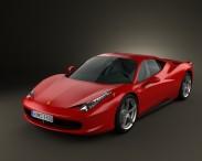 3D model of Ferrari 458 Italia 2011