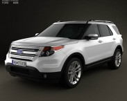 3D model of Ford Explorer 2011