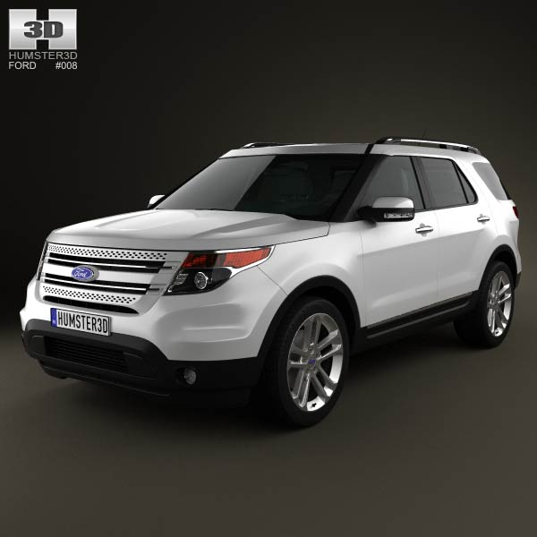 Ford Explorer 2011 3d car model