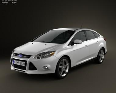 3D model of Ford Focus Sedan 2011