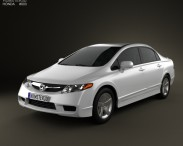 3D model of Honda Civic Sedan 2009