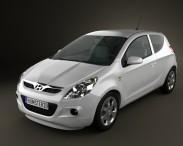 3D model of Hyundai i20 3-door 2010