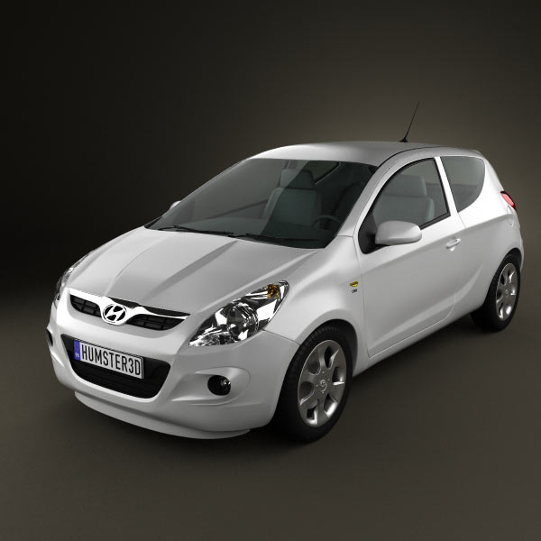 Hyundai i20 3d car model