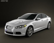 3D model of Jaguar XFR 2011