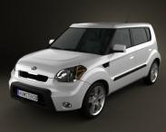 3D model of Kia Soul 2010