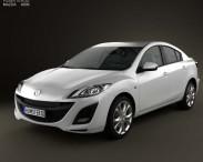 3D model of Mazda 3 Sedan 2011
