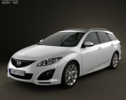 3D model of Mazda 6 Wagon 2011