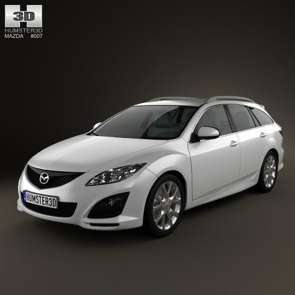mazda 6 wagon 2011 3d model humster3d. Black Bedroom Furniture Sets. Home Design Ideas