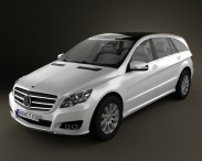 3D model of Mercedes-Benz R-Class 2011