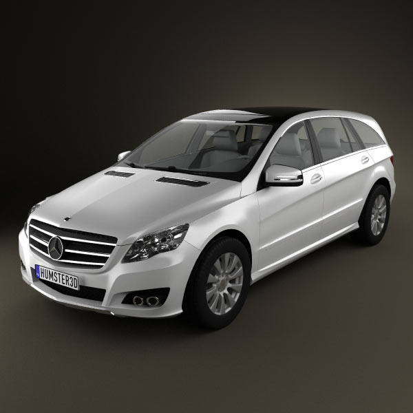 Mercedes benz r class 2011 3d model humster3d for 2011 mercedes benz r350