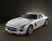 3D model of Mercedes-Benz SLS AMG 2011