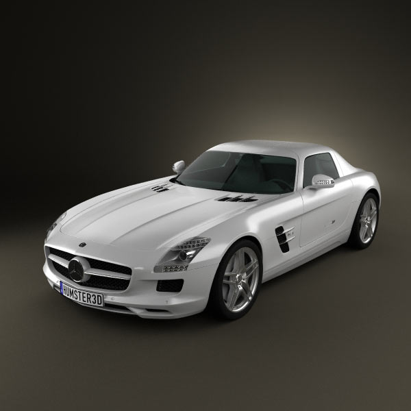 Mercedes-Benz SLS AMG 2011 3d car model
