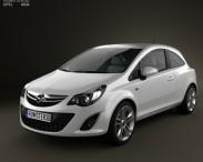 3D model of Opel Corsa 3-door 2011