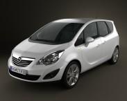 3D model of Opel Meriva B 2011