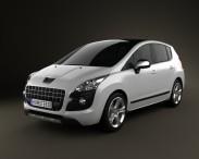 3D model of Peugeot 3008 2010