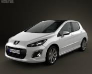3D model of Peugeot 308 2012