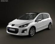 3D model of Peugeot 308 SW 2012