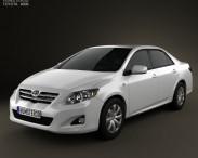 3D model of Toyota Corolla 2010