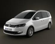 3D model of Volkswagen Sharan (Typ 7N) 2010