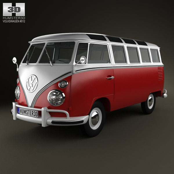 Volkswagen Transporter T1 1950 3d car model