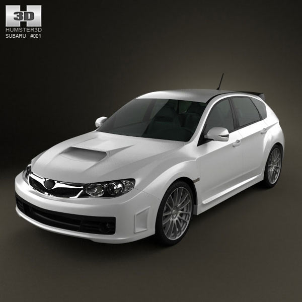 Subaru Impreza WRX STI 2010 3d car model