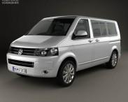 3D model of Volkswagen Transporter T5 Caravelle Multivan 2011