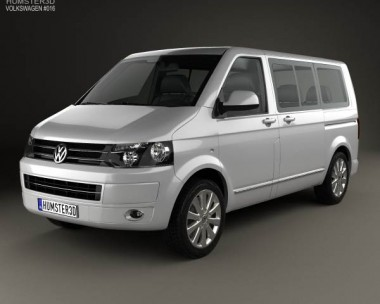 3D model of Volkswagen Transporter T5 Caravelle Multivan 2011