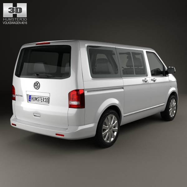 Volkswagen Transporter T5 Caravelle Multivan 2011 3d model