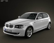 3D model of BMW 1 Series 5-door 2009