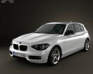 3D model of BMW 1 Series (F20) 5-door 2011