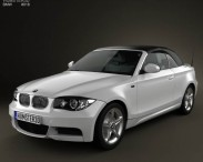 3D model of BMW 1 Series convertible 2009