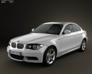 3D model of BMW 1 Series 3-door coupe 2009